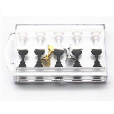 1 Set Chess Board Magnetic Nail Art Tips Stand Display Holder Salon Tool Women.