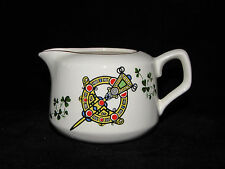 CARRIGDHOUN Pottery CREAMER Celtic Irish Shamrocks Cork Ireland Kilt Pin Design