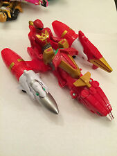 Power rangers super Megaforce red action zord vehicle with ranger figure