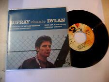"HUGUES AUFRAY""CHANTE BOB DYLAN-disco 45 giri EP(4 brani) BARCLAY Fr1966"""