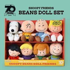 PEANUTS 70th anniversary Soft Bean Doll Set From Japan Snoopy plush 5