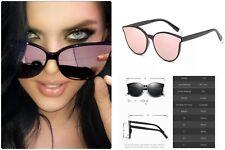 Rose Gold CAT EYE Women Ladies Sunglasses Mirror Aviator SHADES Retro IBIZA UK