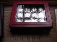 12 SILVER PROOF KINGS AND QUEENS OF GREAT BRITAIN IN DISPLAY CASE WITH COAs