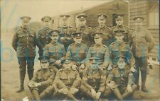 More details for ww1 mixed line regiments group photo of ncos 1917 wound stripes