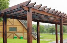GRAPE ARBOR - PERGOLA - PRE-CUT CARBONIZED TIMBER ARBOR DIY KIT 4m*3m