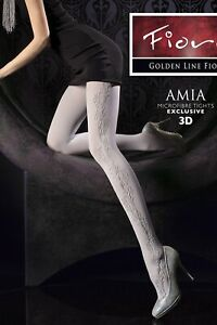 """60 DEN EMBOSSED 3D OPAQUE TIGHTS WITH ELASTANE """"AMIA"""" grey"""