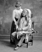 HOLLOW HORN BEAR, BRULE LAKOTA INDIAN LEADER CIRCA 1913 - 8X10 PHOTO (FB-592)