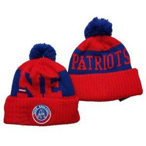 2020 New England New Era Patriots Knit Hat On Field Sideline Beanie Stocking Cap