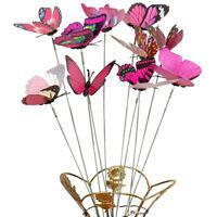 10Pcs Simulation Butterfly Stick Outdoor Garden Flower Pot Decor Ornament Candy