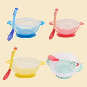 EG_ Baby plastic Suction Bowl and Food Matching Spoon Set Training Feeding Bowl