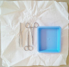 New Hobby Craft Tray Kit- Includes Scissors, Tweezers, Forceps, & Paper Mat