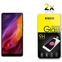 2-Pack Khaos For Xiaomi MIX 2S Tempered Glass Screen Protector