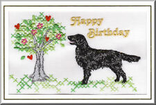Flatcoated Retriever Birthday Card by Dogmania  - FREE PERSONALISATION