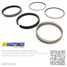 """+040"""" HASTINGS MOLY PISTON RINGS 6 CYL RB30ET TURBO 3.0L [HOLDEN VL COMMODORE]"""