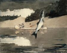 Homer Winslow Ouananiche Fishing Lake St #6212