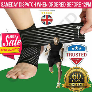 New Ankle Foot Support Strap Adjustable Elastic Compression Bandage Wrap Sports