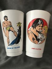 Vintage 1973 7-11 Slurpee Cup TARZAN OF THE APES & JANE CLAYTON Lot Seven Eleven