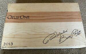 2013 Opus One Red Wine Wood Wine Box