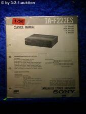 Sony Service Manual TA F222ES Amplifier  (#1256)