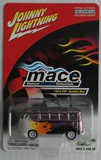 """Johnny White Lightning – VW Bus T1 Samba fliederchrom mit Flammen """"MACE"""" Neu/OVP"""
