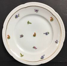 Dinner Plate RARE Vintage Thomas China Bavaria  3171 Multicolor Floral Gold Trim