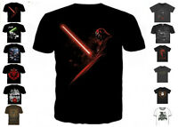 New Star Wars Official Mens Characters Force Awakens T Shirt Retro Vintage