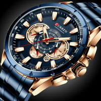 CURREN Herren Luxus Armbanduhr Sport Automatikuhr Mode Watch Uhren Geschenk B4W1