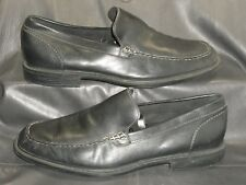 Rockport APM13031 black leather moc toe loafers slip ons Men's shoes size 13 M