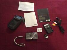 Sony Cyber-shot DSC-W570 16.1MP Digital Camera Charger, Battery, Case, Manual