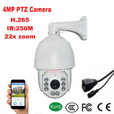 NEW 22X ZOOM 2592*1520 H.265 4MP Outdoor PTZ IP Speed Dome Camera 250M laser IR