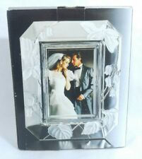 Home Beautiful Crystal Frame Wedding Clear Leaves Flowers Gift WY031/575
