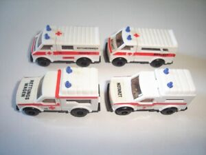 GERMAN AMBULANCE MODEL CARS SET 1:87 H0 - KINDER SURPRISE PLASTIC MINIATURES