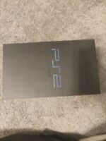 Sony PlayStation 2 Console - Black broken for parts only