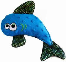 WO Wild Fish Plush Dog Chew Toy With Squeaker And Matalic Crinkle Fins