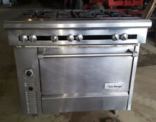 "Us Range Natural Gas Commercial 36"" 6 Six Burner Heavy Duty Range Oven Stove"