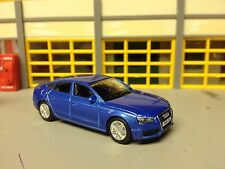 1/64 Audi A5  4Dr. in Blue Metallic/Black Int. with 7 Spoke Alloy Wheels