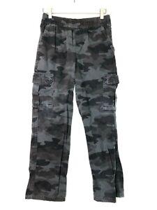 Children's place camouflage cargo pants grey boys size 12 husky