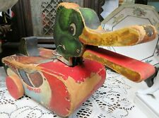 Rare Pull Toy Snappy-Quacky Duck Fisher Price No. 757 Made in 1950, No. 757