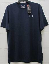 Under Armour Men's Heat Gear Shirt Loose Fit Short Sleeve Navy Blue M Medium New