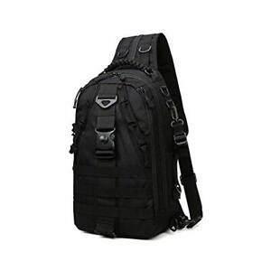 Fishing Tackle Backpack with Rod Holder, Water-Resistant Fishing Black