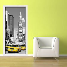 NYC Decoration Decal Times Square Home Wall Sticker Mural Door 86cm x 200cm