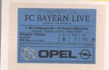 ALLEMAGNE BILLET DE FOOTBALL ~ GOTTINGEN 05 vs BAYERN MUNCHEN 2001  ~ TICKET