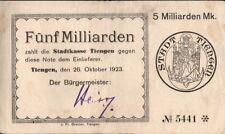 Inflation, Notgeld, Fünf Milliarden und Zehn Milliarden Mark, 5170d 2 Werte