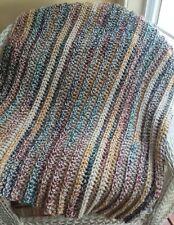BABY AFGHAN BLANKET crochet handmade bulky SOFT SUPER CHUNKY multi thick lapghan