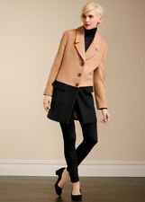 $289 NWT TALBOTS WOOL BLACK/BEIGE COLOR BLOCK COAT JACKET 12P 12 Petite  (Go416)