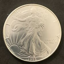 Uncirculated 1993 American Silver Eagle Coin ASE
