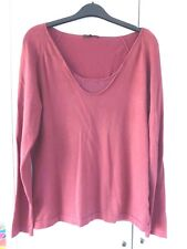 Linea long sleeve top, burgundy, with sequins, size L