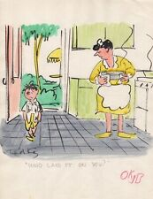 TED KEY HANDSIGNED ORIGINAL ARTWORK FROM EARLY 50's  HAZEL SATURDAY EVENING POST