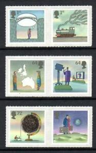 2007 GB WORLD OF INVENTION MNH Stamp Set SG 2715-2720 QEII Self Adhesive Mint