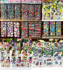 NEW 3 Sheets Puffy 3D Cartoon Stickers Scrapbook Kids Party Bag Favors Crafts